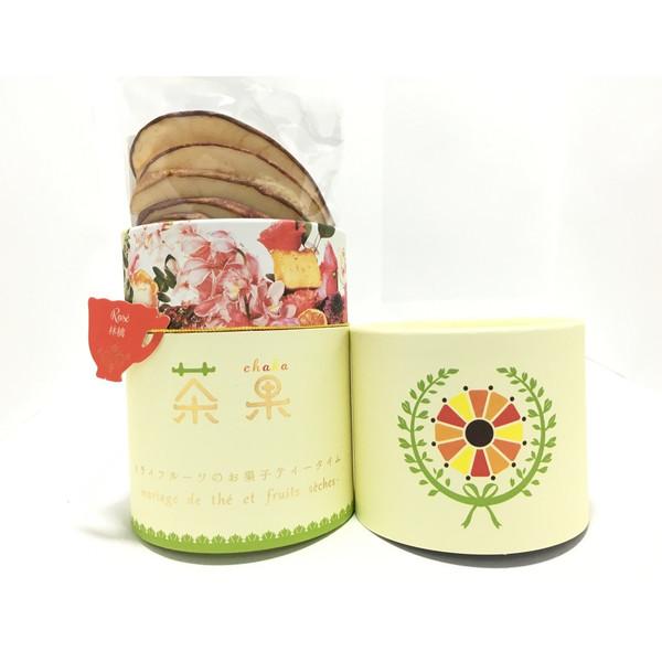 画像1: 「茶果・ロゼ」紅茶(5パック)とドライりんご(5枚)のセット (1)